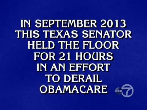 'Jeopardy' Clue Features Ted Cruz Filibuster