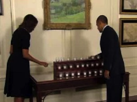 President and First Lady Mark One Year Anniversary of Newtown With Moment of Silence