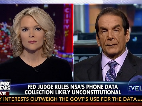 Krauthammer: 'Leave It to the Congress' to Determine Constitutionality of the NSA