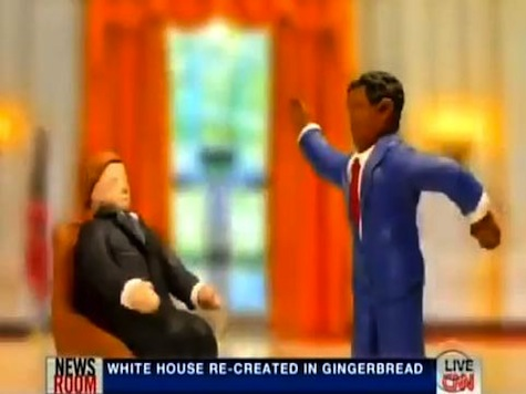 Letterman Features Marzipan Obama Firing the Guy Who Designed the ObamaCare Website in Gingerbread WH