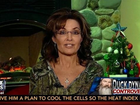 Palin Defends 'Duck Dynasty' Star Phil Robertson for Reciting the Gospel, Says A&E Slogan is 'Be Stupid'
