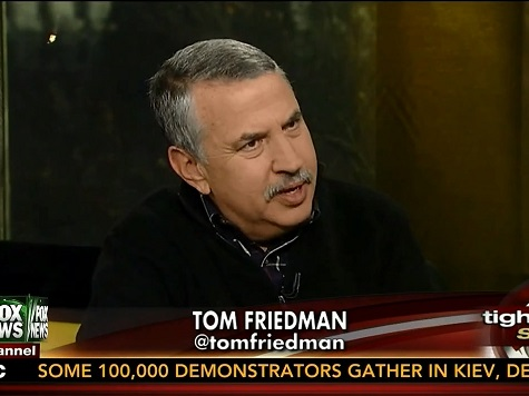 NY Times' Thomas Friedman Declines to Say Obama Had a Bad Year