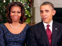 Watch: Barack, Michelle Obama's Christmas Message