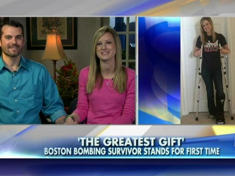 Woman Wounded in Boston Bombing Able to Stand Again