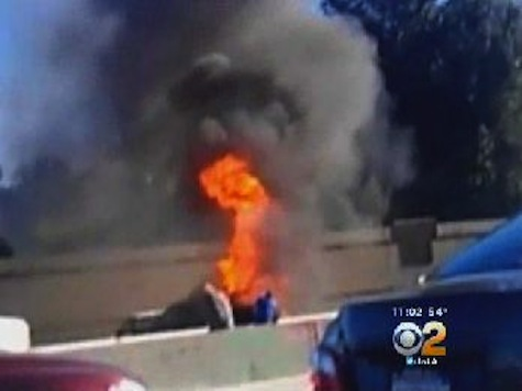 Hero Off-Duty Cop Rescues Man From California Freeway Car Inferno