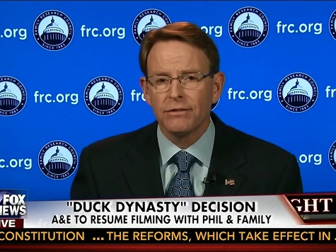 FRC's Tony Perkins: A&E Reversal 'Shows If You Stand Up to Cultural Bullies, They'll Have to Back Down'