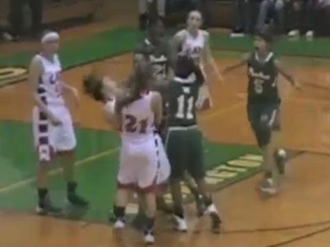 High School Basketball Game Turns Ugly When Girl Decks Opponent