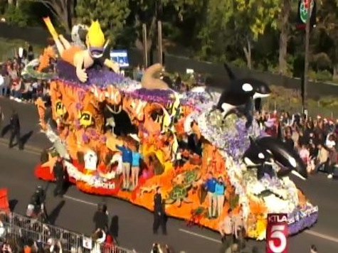 19 Arrested as PETA Protests Sea World Float at Rose Bowl Parade