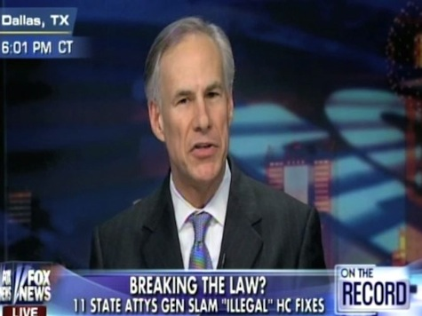 Texas AG Discusses the 11 GOP Attorneys General Opposing Obama's Healthcare Fixes