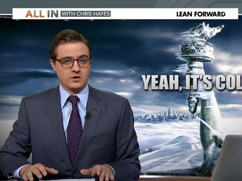 MSNBC's Chris Hayes Accuses Drudge of 'Snow Trolling' over Global Warming