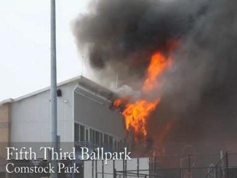 Minor League Ballpark on Fire in Sub-Zero Temps