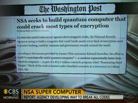 NSA Reportedly Trying to Develop Encryption-Breaking Supercomputer