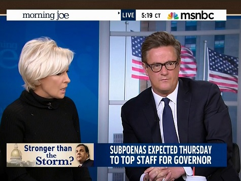 Scarborough Presses Brzezinski on the Christie-Obama Media Double Standard