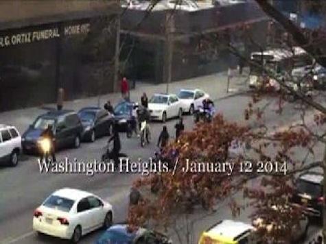 Biker Mob in NYC Blocks Traffic, Scares Pedestrians