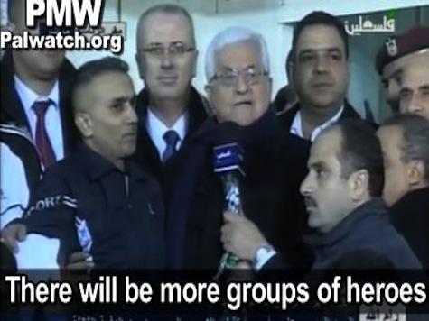 Video Shows Palestinian Leader Mahmoud Abbas Calling Released Terrorists 'Heroes'