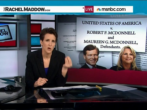 MSNBC's Rachel Maddow Goes Through Some of Details of the McDonnell Indictment