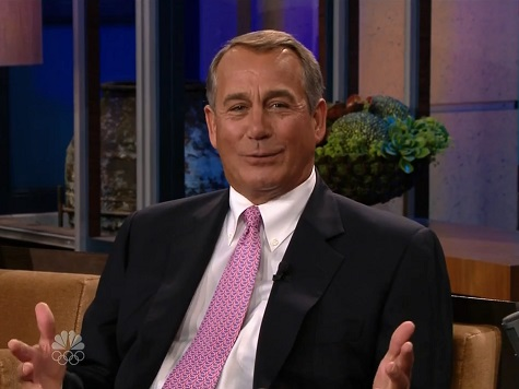 Boehner Decries Shutdown, Says Unwilling to Quit Golf, Cigarettes to Run for Prez in Leno Appearance