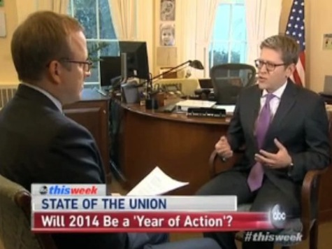 ABC's Jon Karl Grills Jay Carney: Will ObamaCare Have Been Worth It if Dems Lose the Senate?