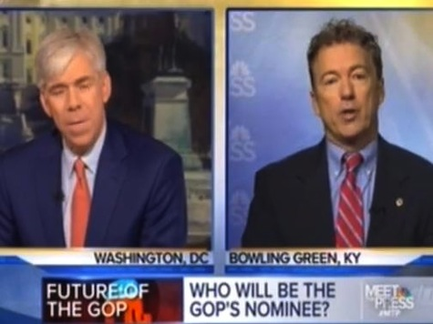 'Don't Be Trashing My Dad': Rand Paul Defends Ron Paul and Libertarianism from NBC's David Gregory Criticism