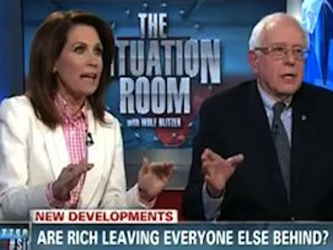 Michele Bachmann Takes on Self-Described Socialist Bernie Sanders in Blowout Debate