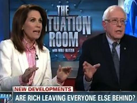 Michele Bachmann Takes on Self-Described Socialist Bernie Sanders in Blowout Debate
