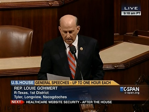 Rep. Louie Gohmert Cites Piece By Breitbart News' Kerry Picket on the House Floor