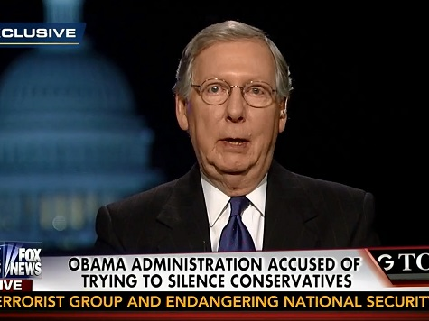 McConnell: Obama Treasury Dept. Using New IRS Rules to Silence Conservative Critics for 2014 Cycle