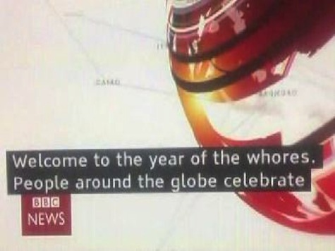 BBC Caption Welcomes 'the Year of the Whores'