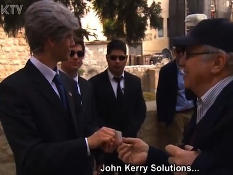 Israeli Settlers Mock Kerry's Peacemaking With Spoof Video