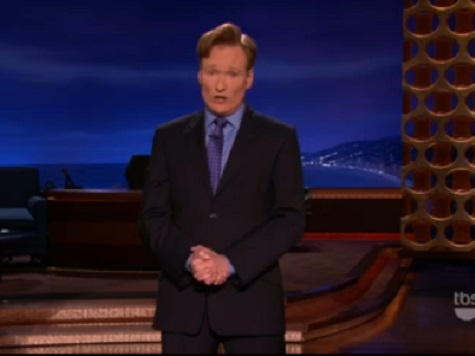 Conan Takes Veiled Shot at Leno on Rival's Final Night