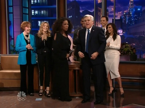 Jay Leno Gets All-Star Sing-Off Farewell from Oprah, Carol Burnett, Billy Crystal and Others
