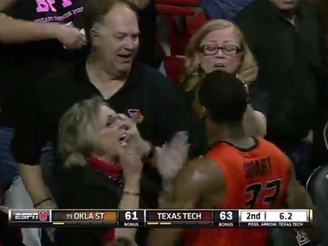Oklahoma State Basketball Player Marcus Smart Shoves a Fan in Loss to Texas Tech