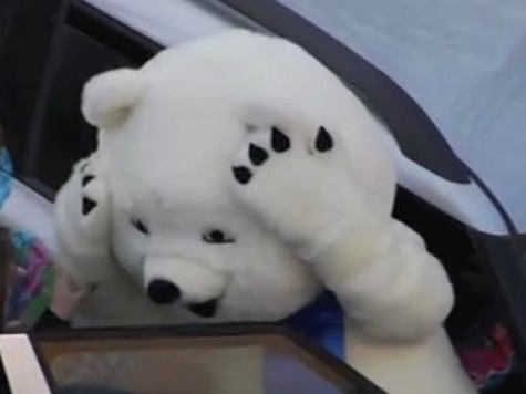 Sochi Scare Bear's Gigantic Head Glitch