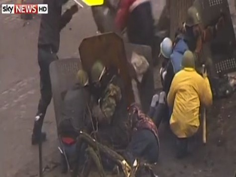 Video of Snipers Shooting Protesters as Ukraine Truce Crumbles