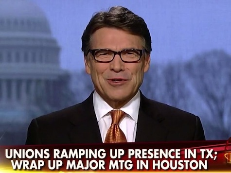 Rick Perry: Unions Don't Stand a Chance in Texas