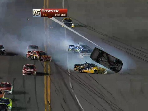 Clint Bowyer Gets Airborne in Wild Finish of Daytona 500 Qualifying Race