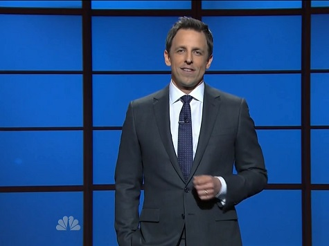 Seth Meyers Delivers Monologue Much Like SNL's 'Weekend Update' in Debut