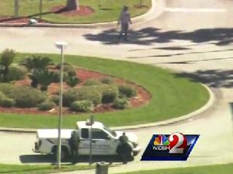 Chilling Raw Video: Gunman Paces Outside Brevard County Courthouse While Police Watch
