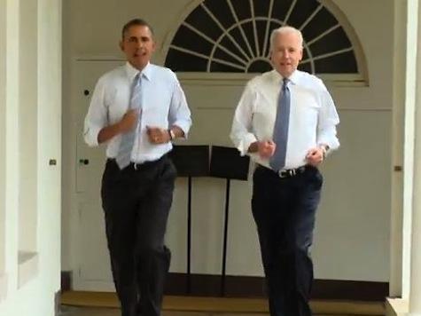 Watch: Obama and Biden's Jaunty 30-Second Jog for Michelle Obama