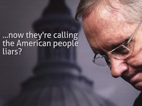 GOP Destroys Harry Reid in New Ad: 'Now They're Calling The American People Liars'