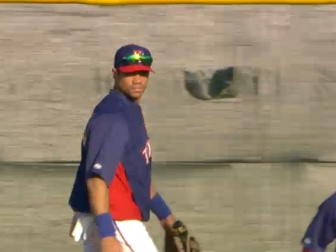 Seahawks QB Russell Wilson Practices with Texas Rangers