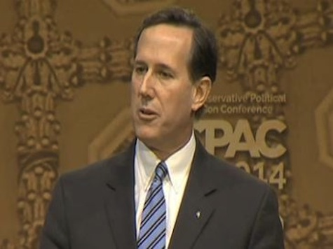 Santorum at CPAC: Fear Got Obama Reelected