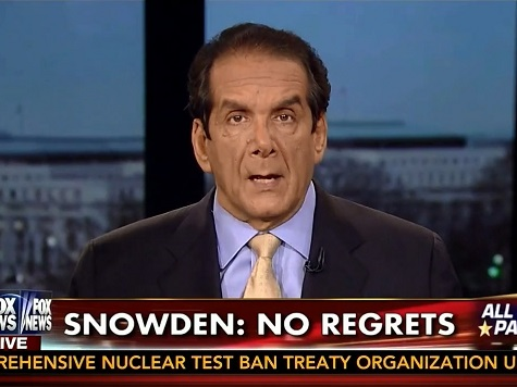 Krauthammer Rips Snowden: 'I Don't Want to Be Lectured By a Traitor'