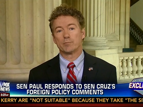 Rand Paul Hits Ted Cruz — Accuses Him of 'Mischaracterizing' His Foreign Policy Views