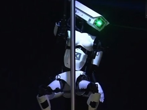 Robot Pole Dances for Angela Merkel, David Cameron