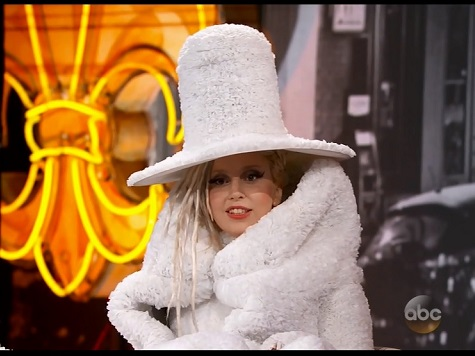 Lady Gaga Makes Stop on 'Jimmy Kimmel Live' in Coffee Filter Dress