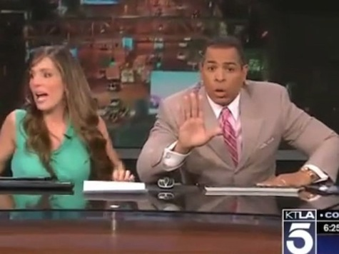 Jumping Under News Desks: Live Reactions of Los Angeles Area Anchors to Earthquake