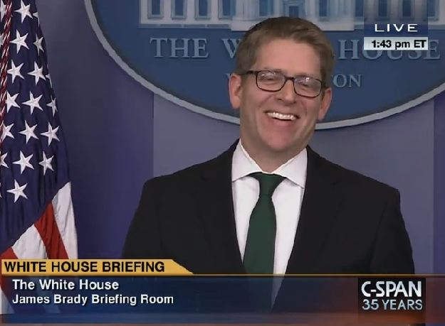 Jay Carney Laughs off Russian State TV's Threat to Turn America into 'Radioactive Ash'