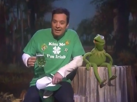 Kermit the Frog, Jimmy Fallon Team Up for 'It's Not Easy Being Green' on St Patrick's Day