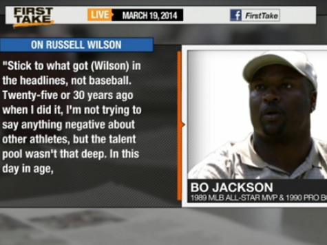 Bo Jackson: Seahawks QB Russell Wilson Should Stick to Football